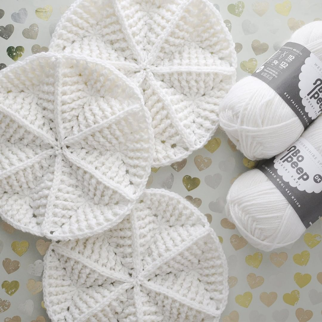 white structural crochet modules