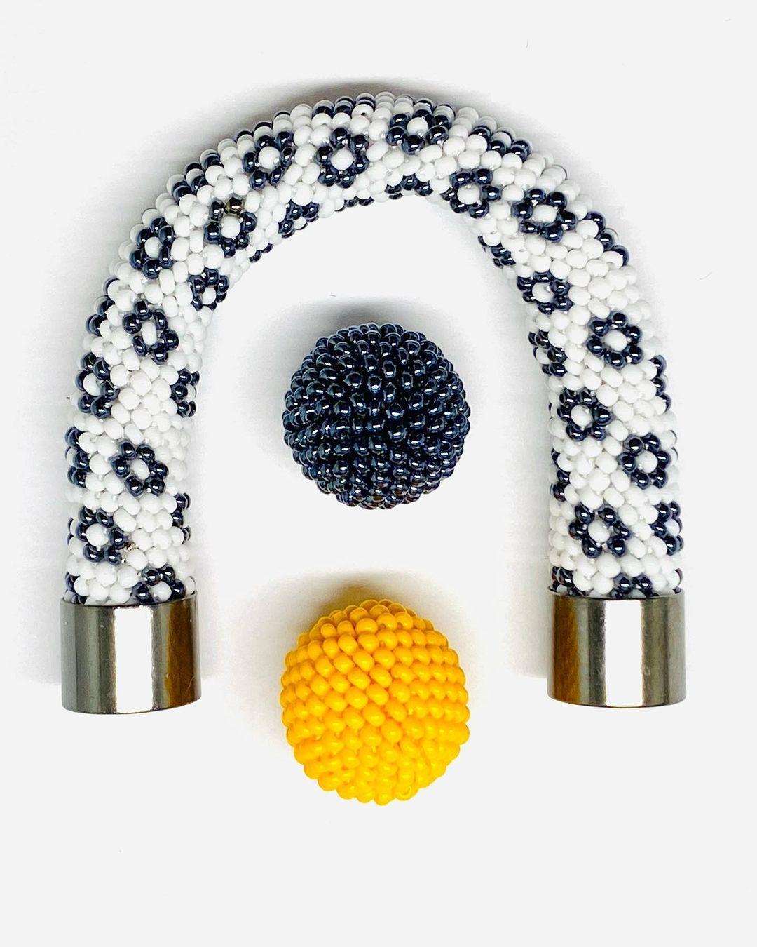 bead crochet balls and bracelet