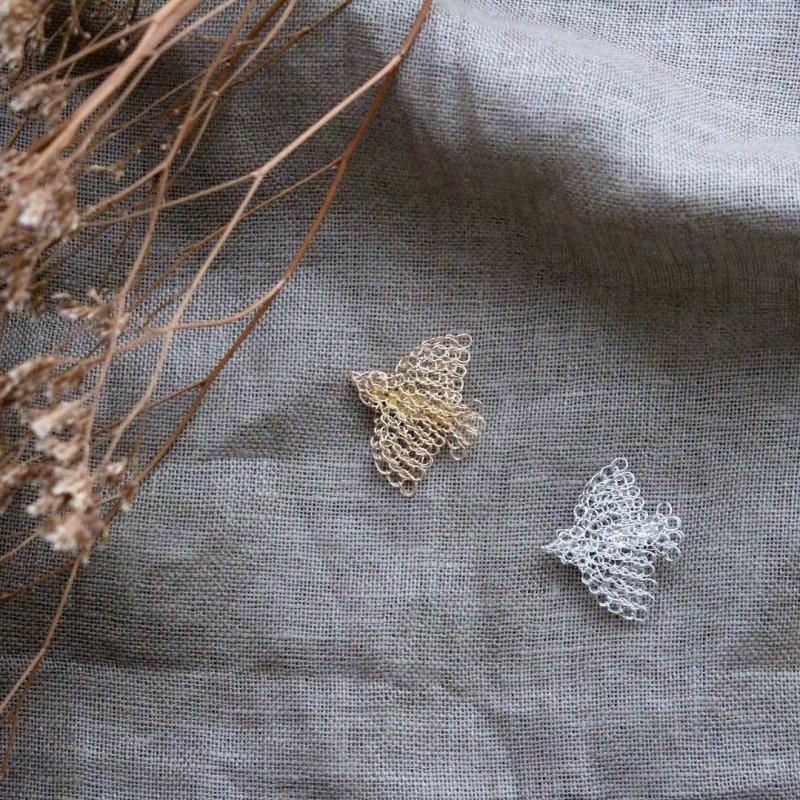 two wire crochet birds