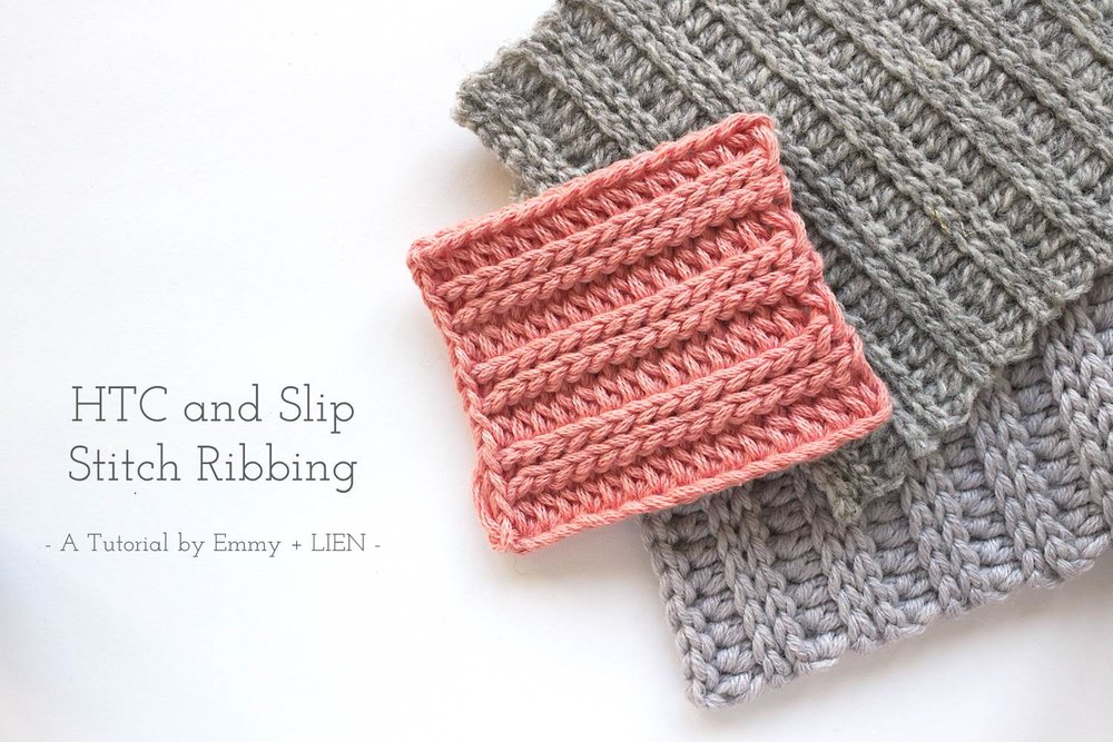ribbing swatches on white background