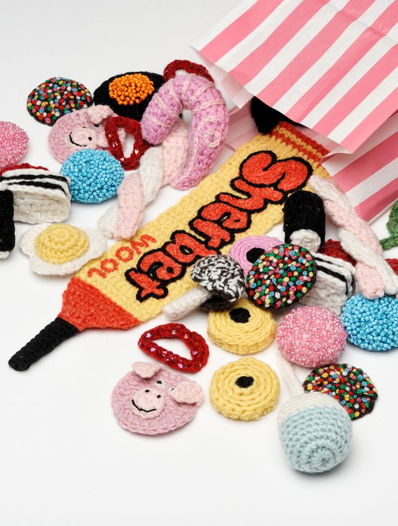 Crocheted sweets by Kate Jenkins
