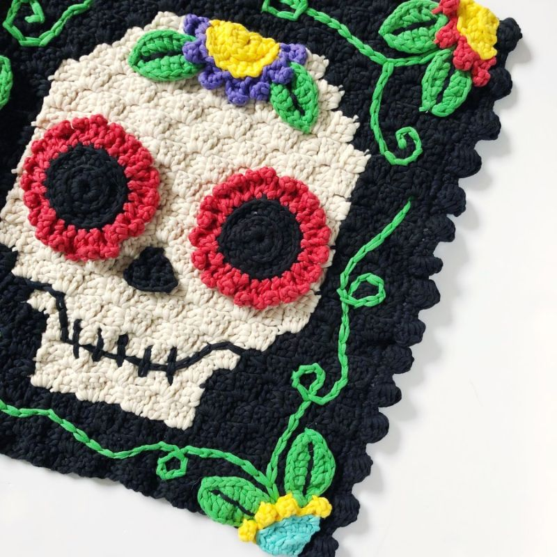 C2C Day of the Dead Welcome Mat by Steph Lewis