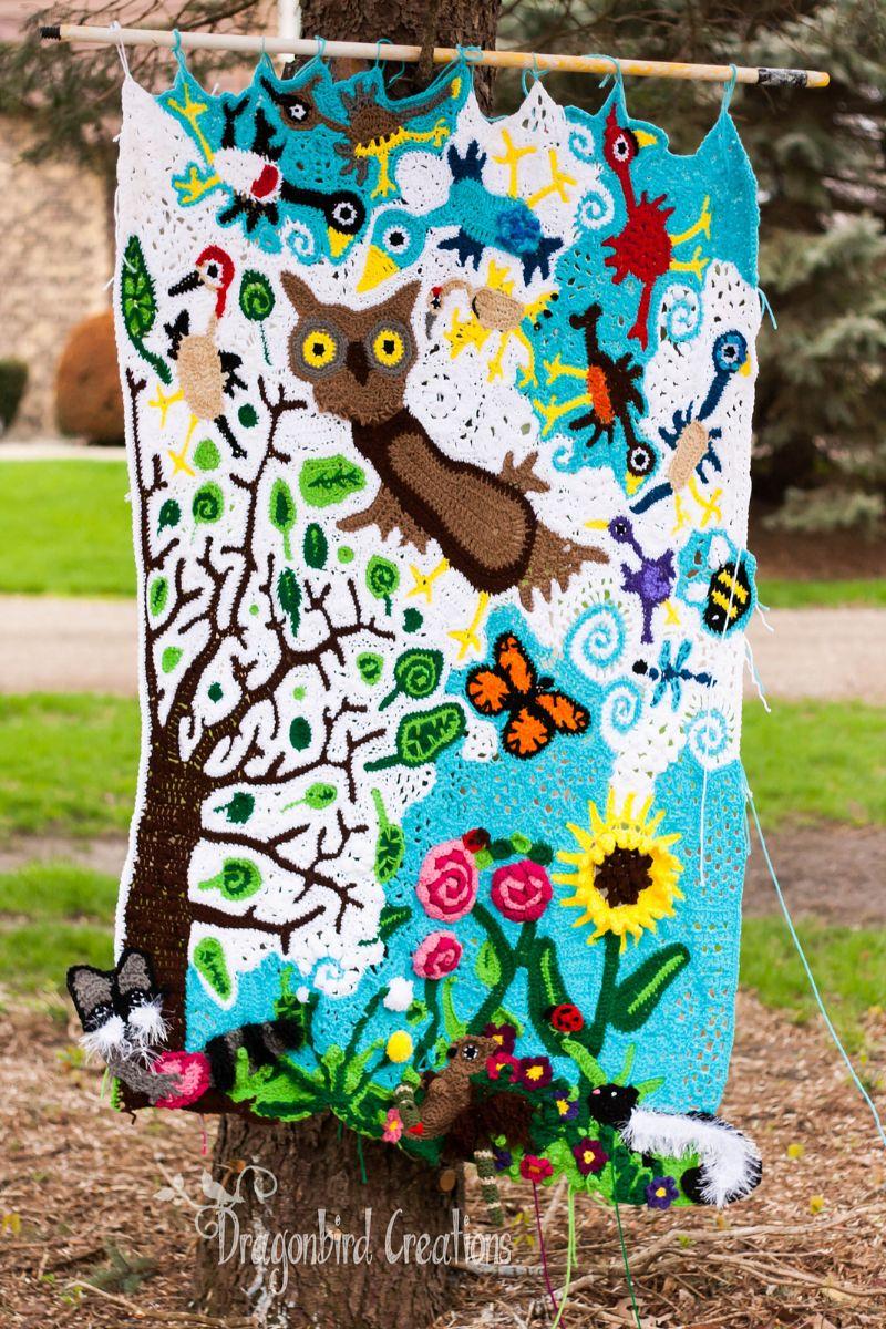 Freeform Bird Blanket: Painting With Yarn by dragonbird