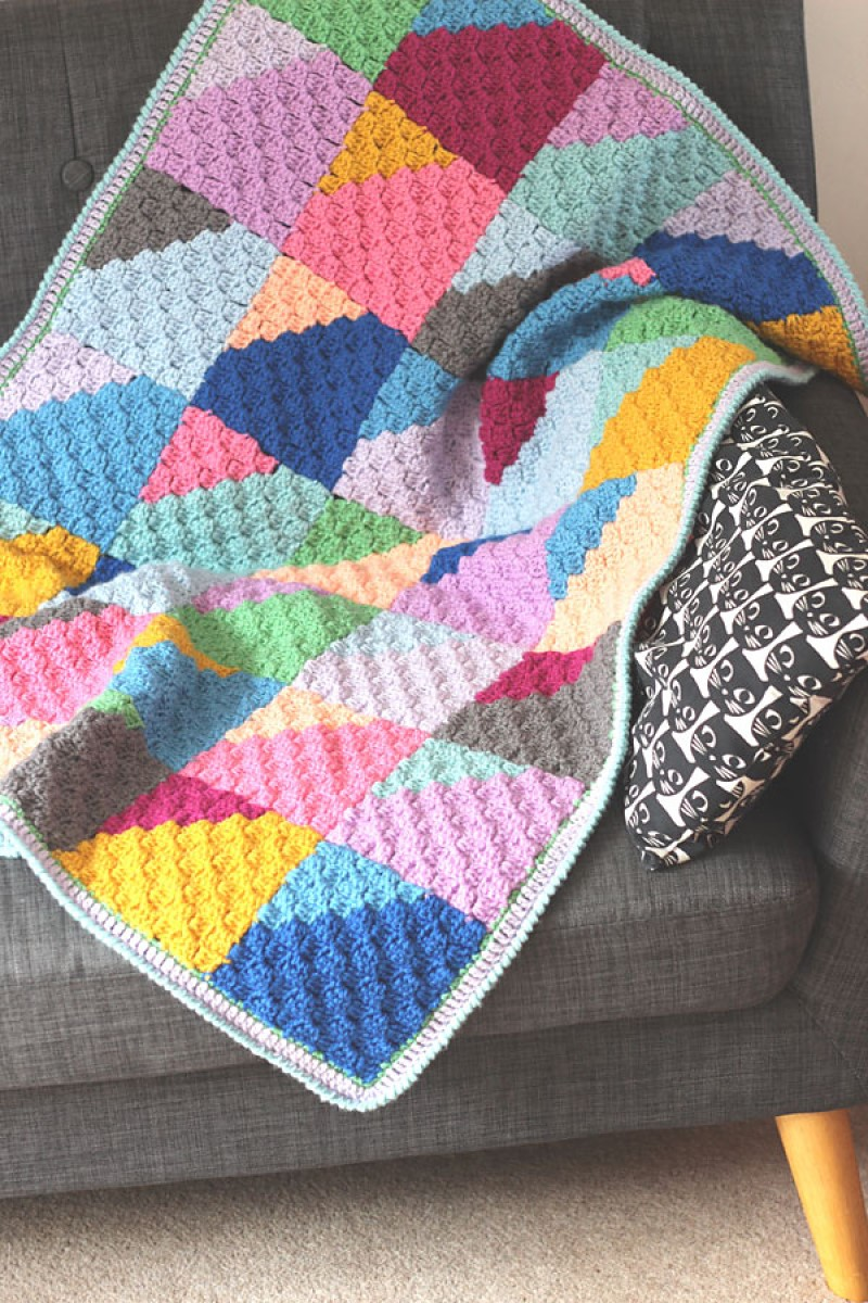 Geo Rainbow Blanket by Zeens and Roger