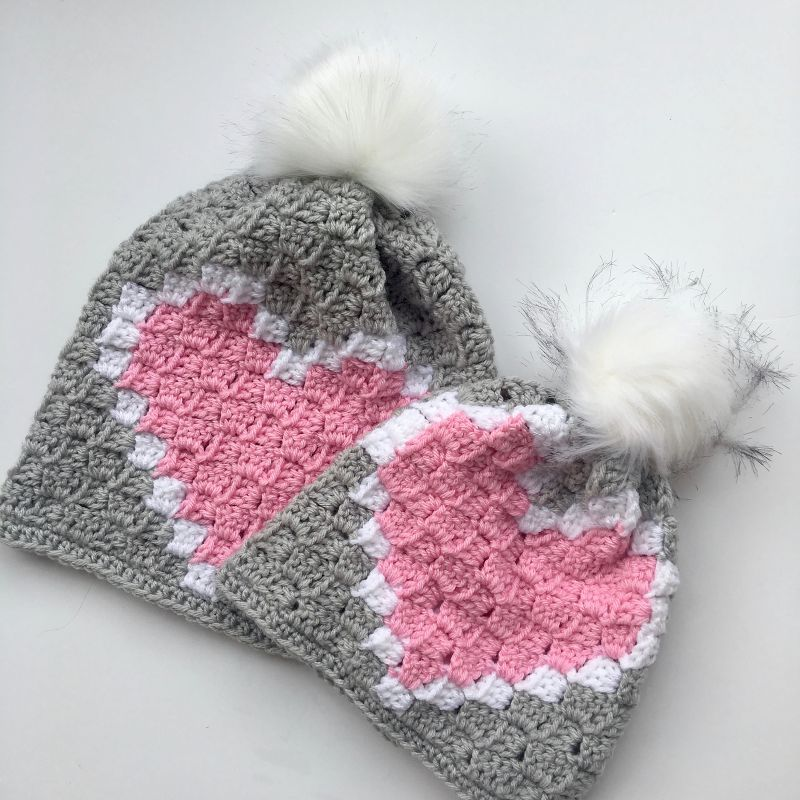 Heart C2C Hat by Tonya Bush