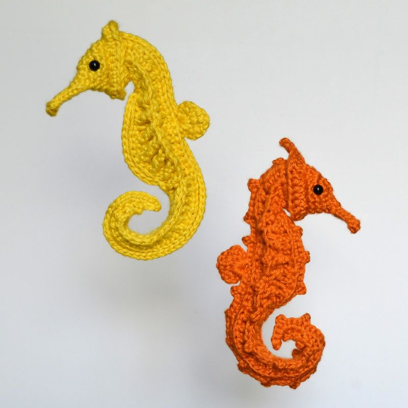 Post-Modern Post-Stitch Seahorse by Terry Finer