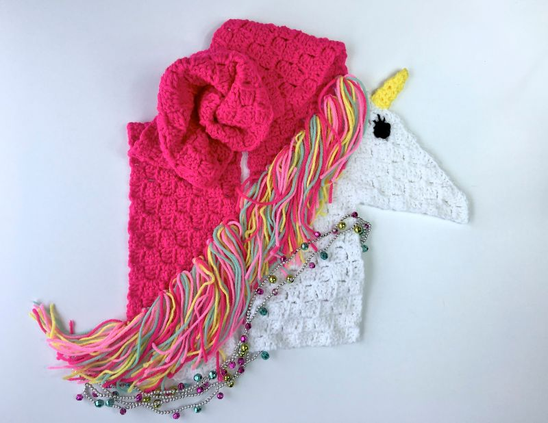 Unicorn Scarf C2C by Tonya Bush