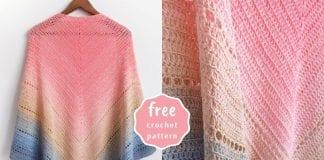 Lake Sunset Shawl - Free Crochet Pattern