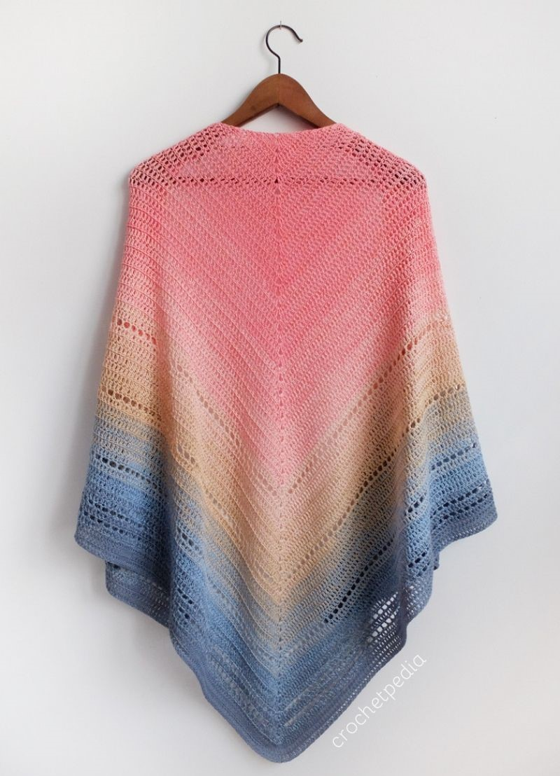Lake Sunset Shawl - Free Crochet Pattern