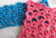 loops in loops crochet stitch step by step tutorial