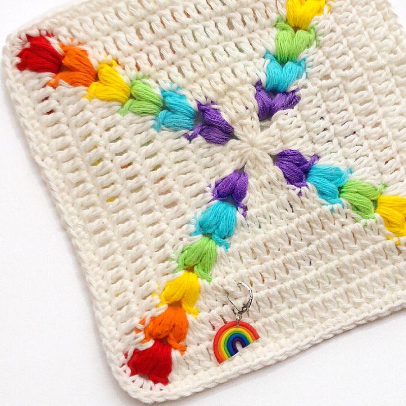 Rainbow Puff Square by Crafty CC