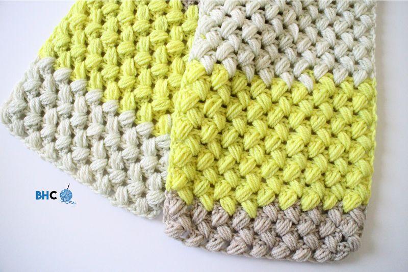 Zig Zag Puff Scarf by B.hooked Crochet