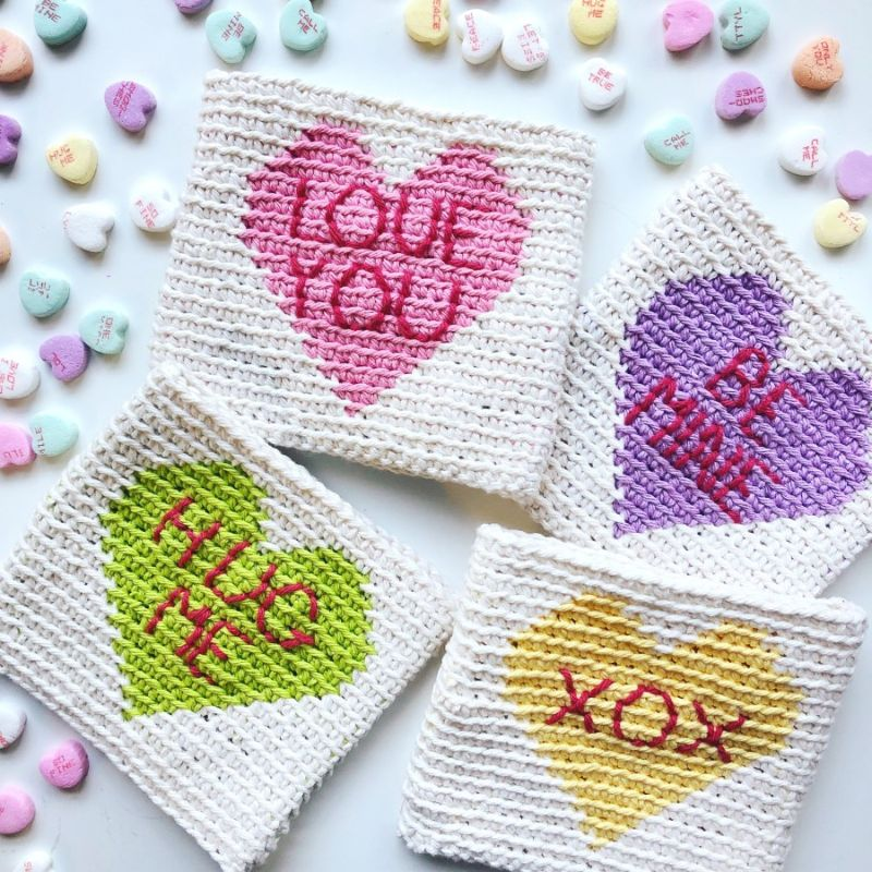 Candy Heart Pouch by Steph Lewis