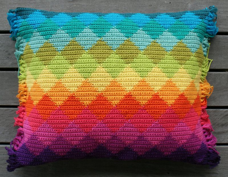 Harlequin Cushion by rettgrayson