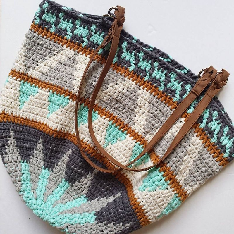 Market Day Bag by DROPS design, this version by LBK63