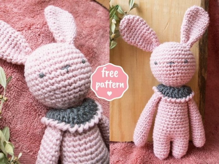 Rose Bunny Amigurumi - Free Crochet Pattern