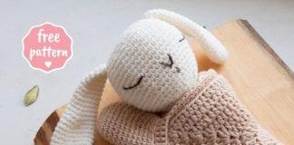Sleepy Bunny Lovey - Free Crochet Pattern Tutorial