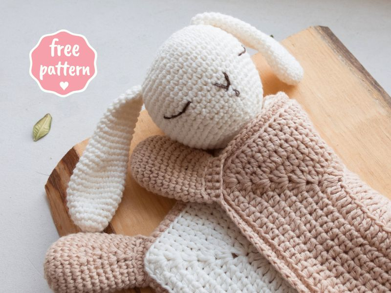 Sleepy Bunny Lovey - Free Crochet Pattern Tutorial