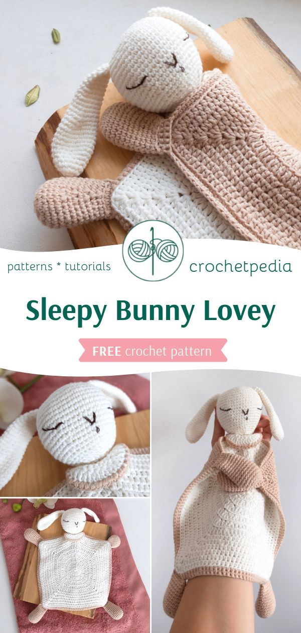 Sleepy Bunny Lovey - Free Crochet Pattern