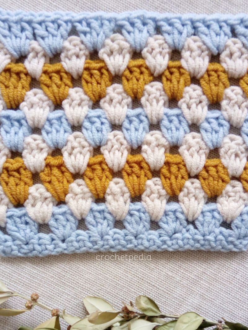 How To Crochet Granny Stripe Stitch