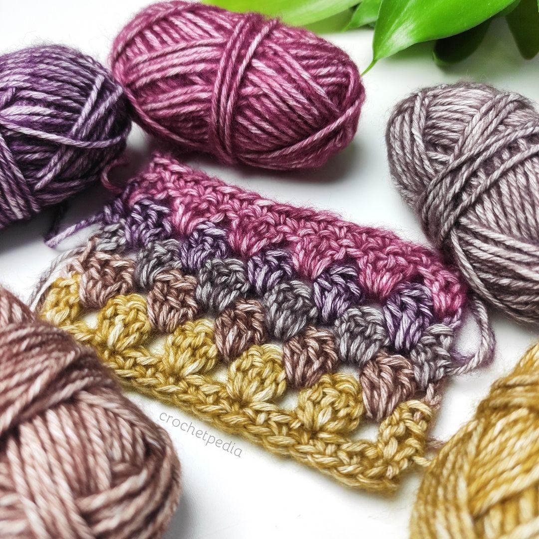 granny stitch in dark moody tones