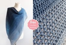 Lake Midnight Shawl - Free Crochet Pattern