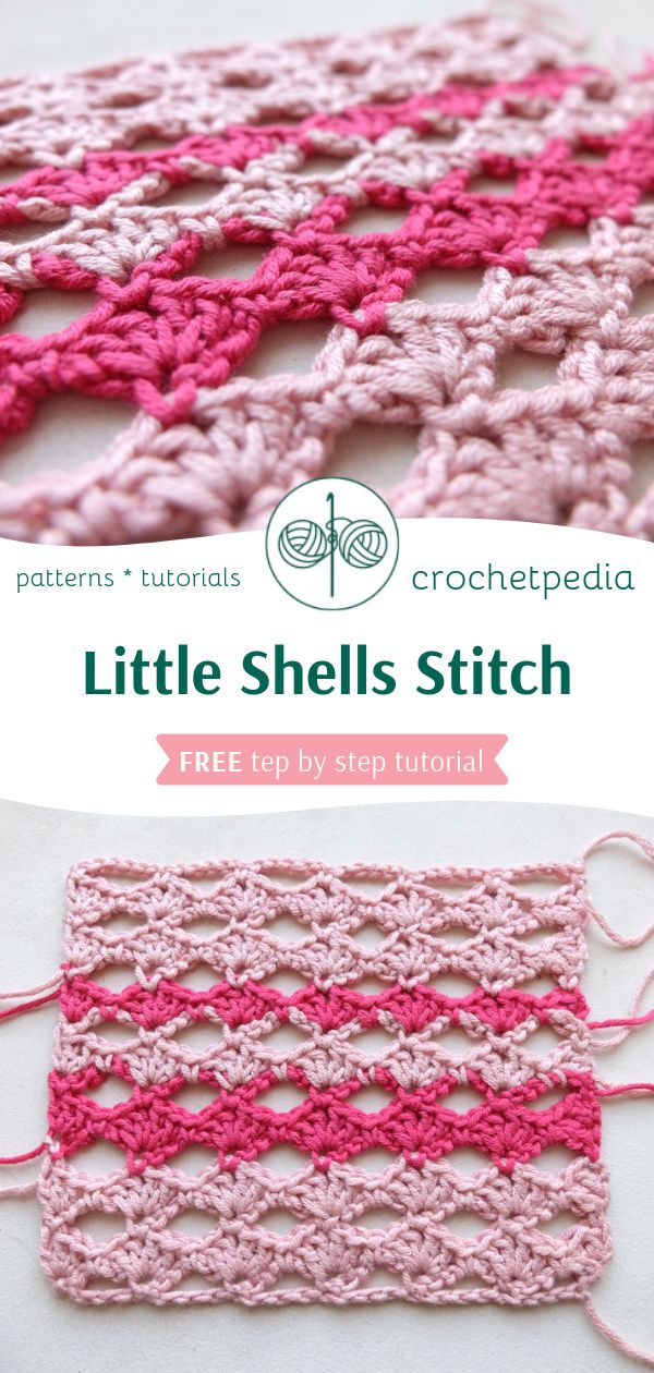 Little Shells Stitch Free Crochet Tutorial