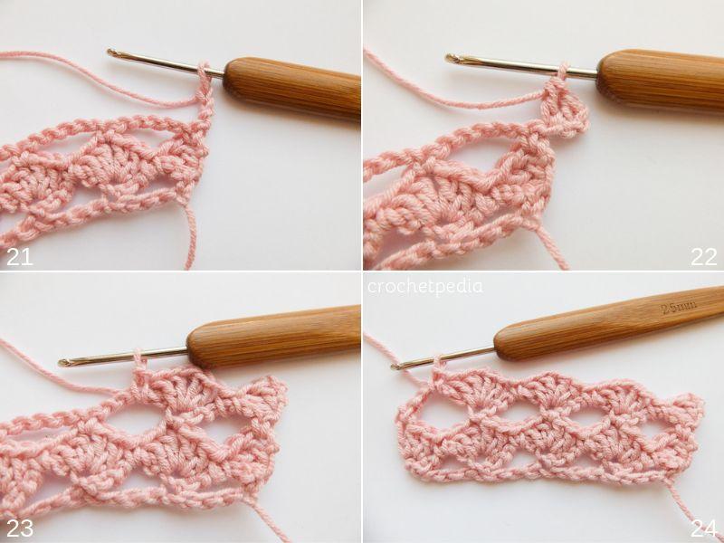 Little Shells Stitch Free Crochet Tutorial