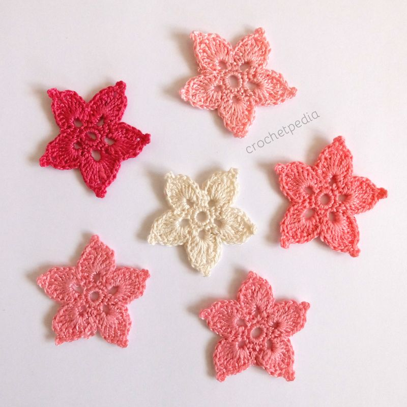 Star Shaped Flowers Free Crochet Pattern