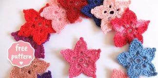Star Shaped Flowers Free Crochet Pattern