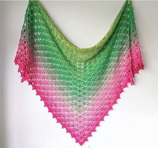 Fragrant Shawl Free Crochet Pattern