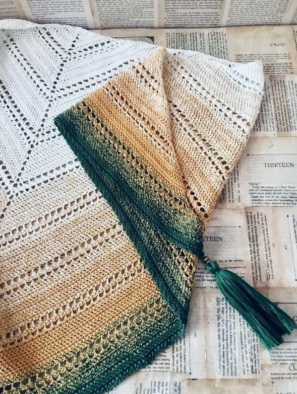 Genara Shawl Free Crochet Pattern