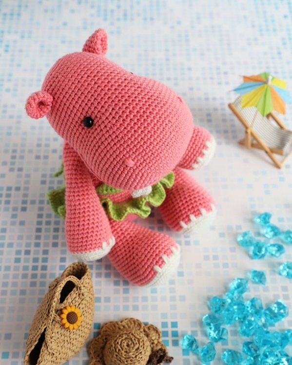 Hady Hippo Amigurumi Free Crochet Pattern