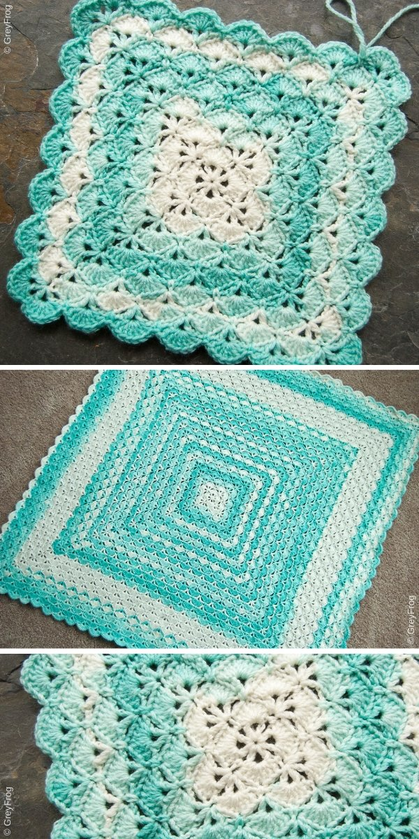 Beautiful Shells Blanket Free Crochet Pattern