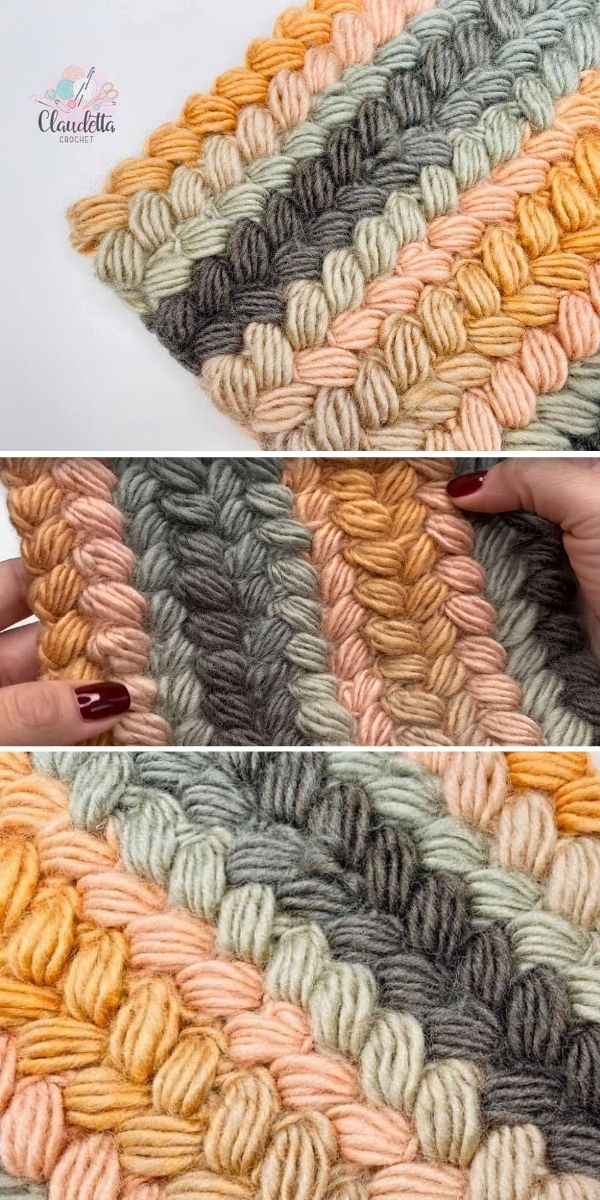 Easy Crochet Braided Stitch