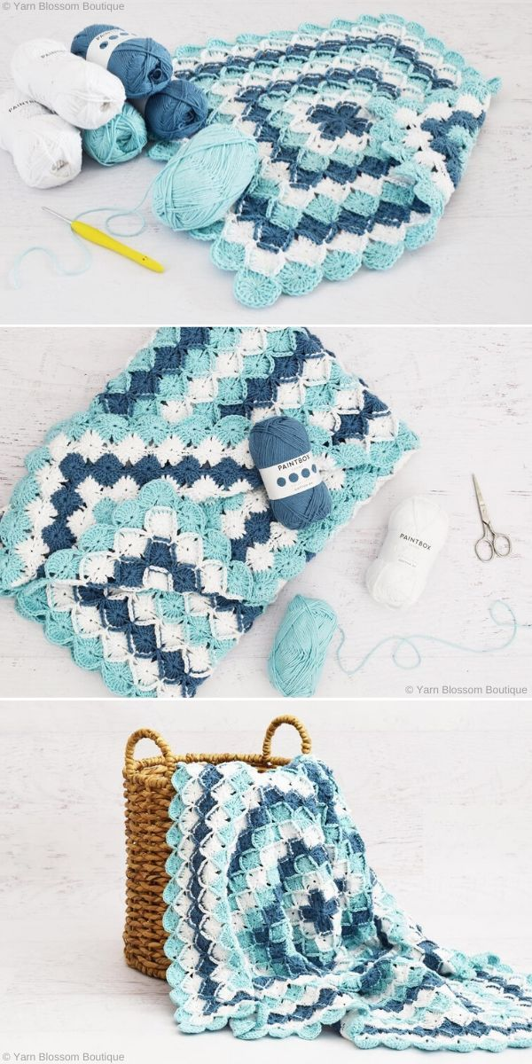Bavarian Stitch Blanket by Yarn Blossom Boutique