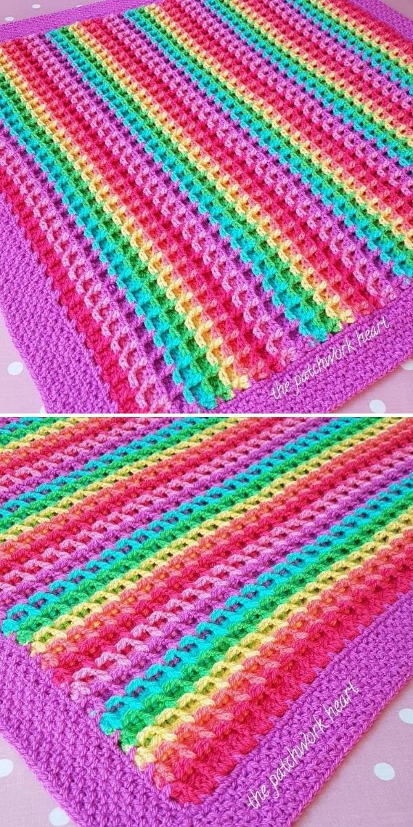 vibrant candy blanket