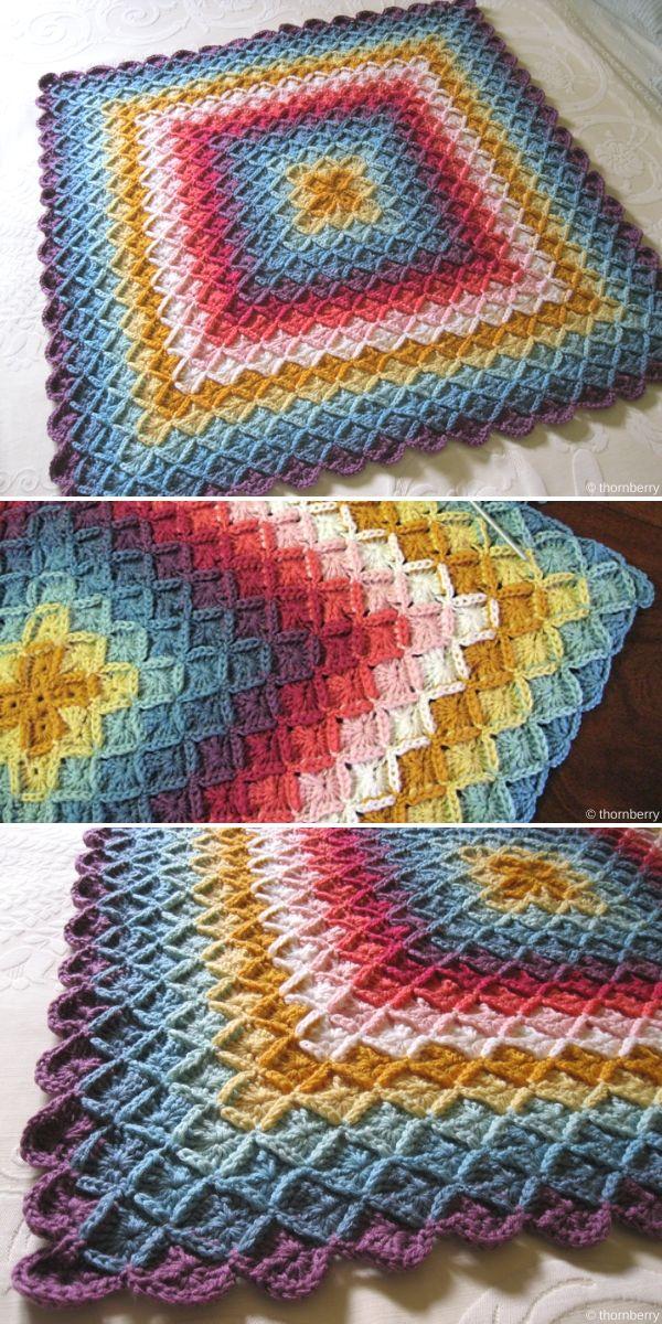 Clare's Wool Eater Blanket Free Crochet Pattern