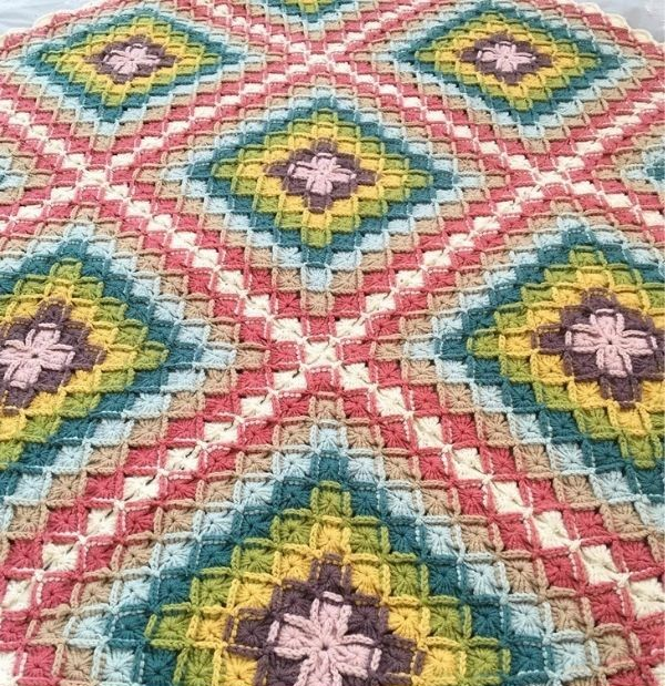 graphic blanket of squares