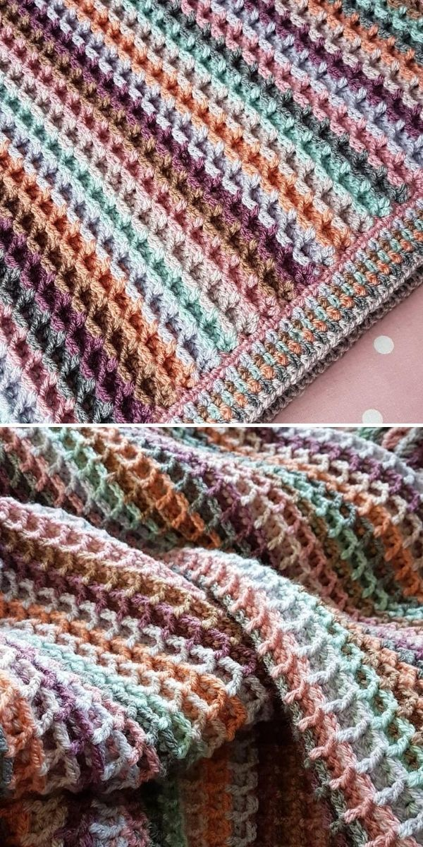 brown ombre blanket