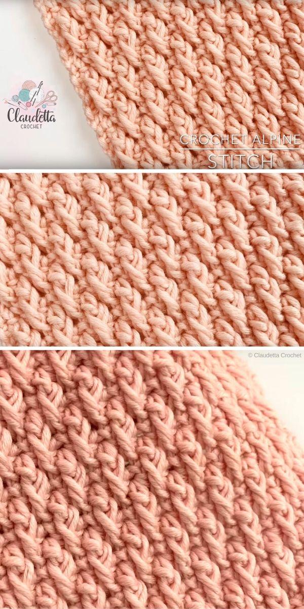 Alpine Stitch Crochet Tutorial by Claudetta Crochet