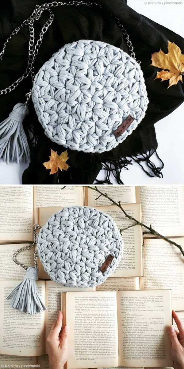 Jasmine Stitch Crochet Bag by Pleciemotki