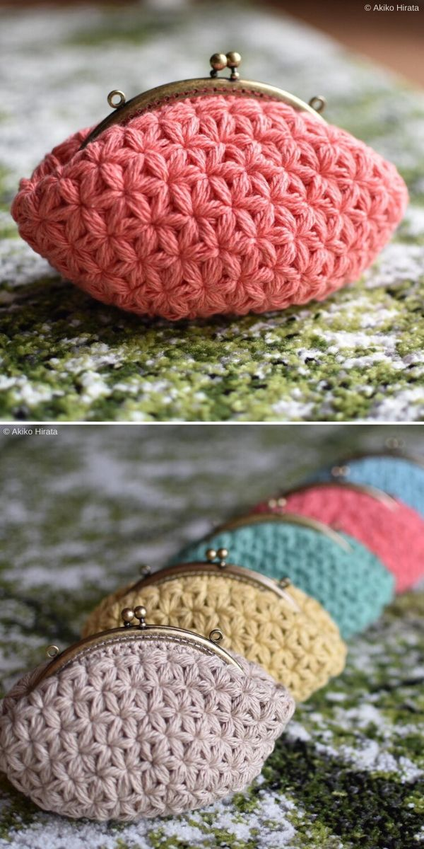 Jasmine Stitch Crochet Pouch by tsukurite_akko