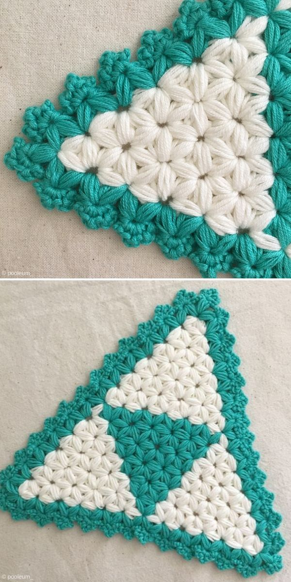 Jasmine Stitch Crochet Triangle by Pooleum