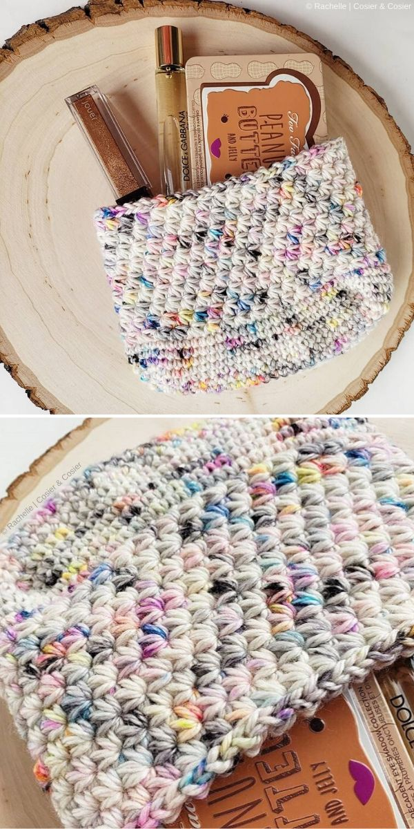 Star Stitch Speckled Pouch by Rachelle of Cosier & Cosier