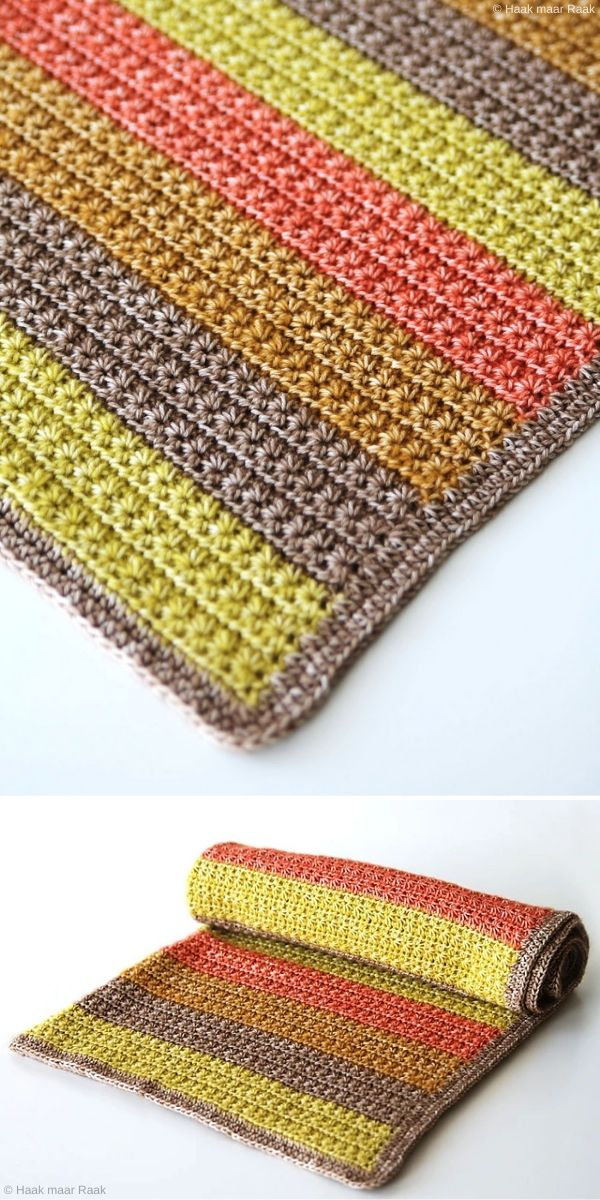 Star Stitch Baby Blanket Crochet Pattern