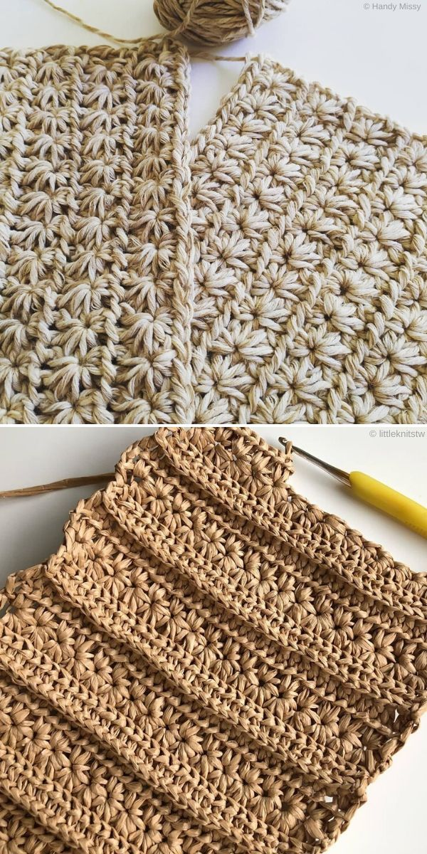 Natural Star Stitch by Handy Missy and Littleknits