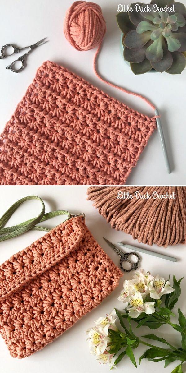 Star Stitch Clutch by Little Duck Crochet