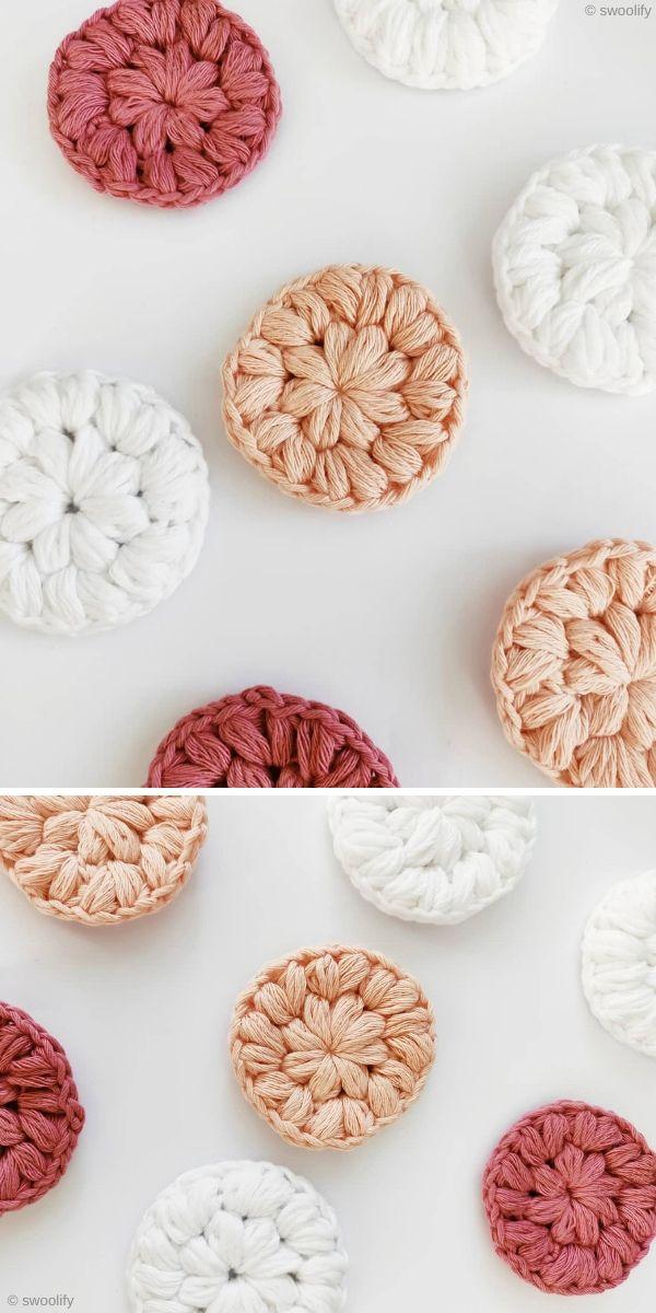 Stitched Up Make Up Scrubbies Free Crochet Pattern