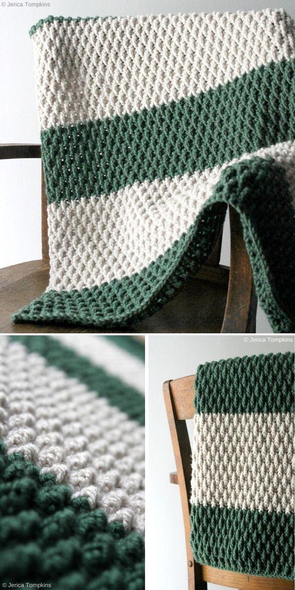 The Alpine Blanket Free Crochet Pattern